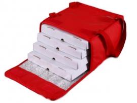 Bolso térmico para 4 cajas de pizza 33 x 33 cm. con Velcro
