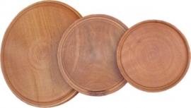 Plato de madera de  Ø 20 CM