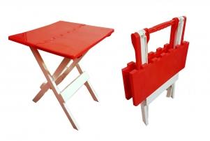 Mesa plegable abisagrada de plastico